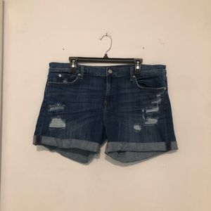 7 For All Mankind Jean Shorts Size 34